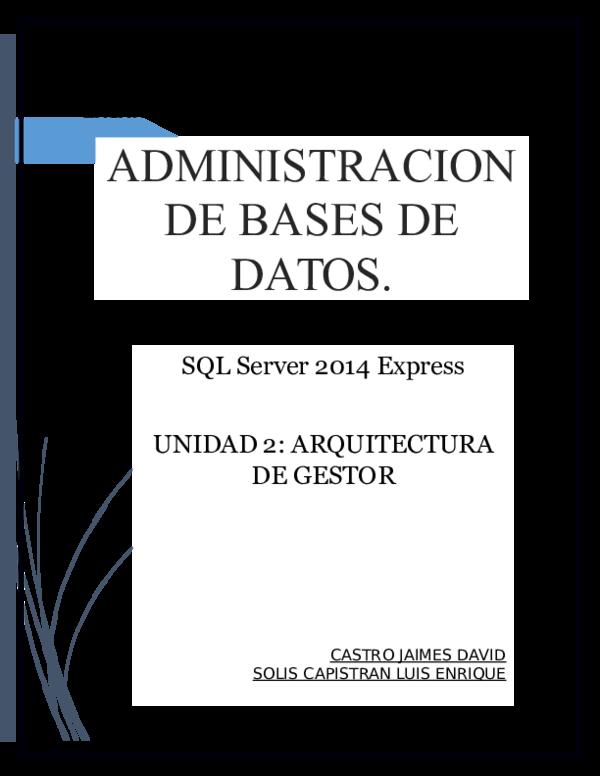 Doc Instalacion Sqlexpress Luis Enrique Solis Capistran
