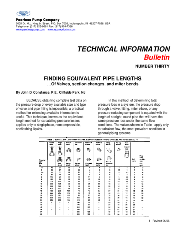 PDF) FINDING EQUIVALENT PIPE LENGTHS …Of Valves, section