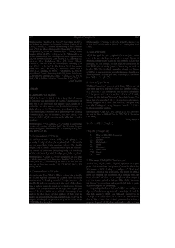 "PDF) ""Elijah, Visual Arts, Islam,"" Encyclopedia of the Bible"