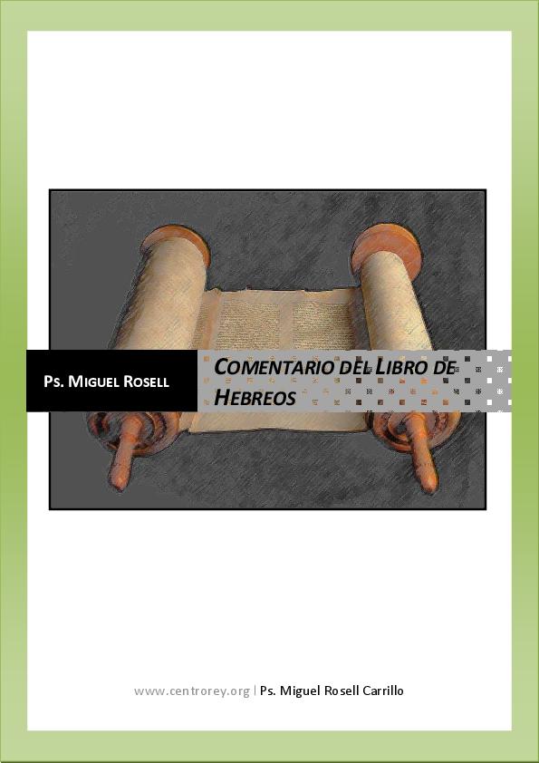 PDF) COMENTARIO DEL LIBRO DE HEBREOS | javier ayala