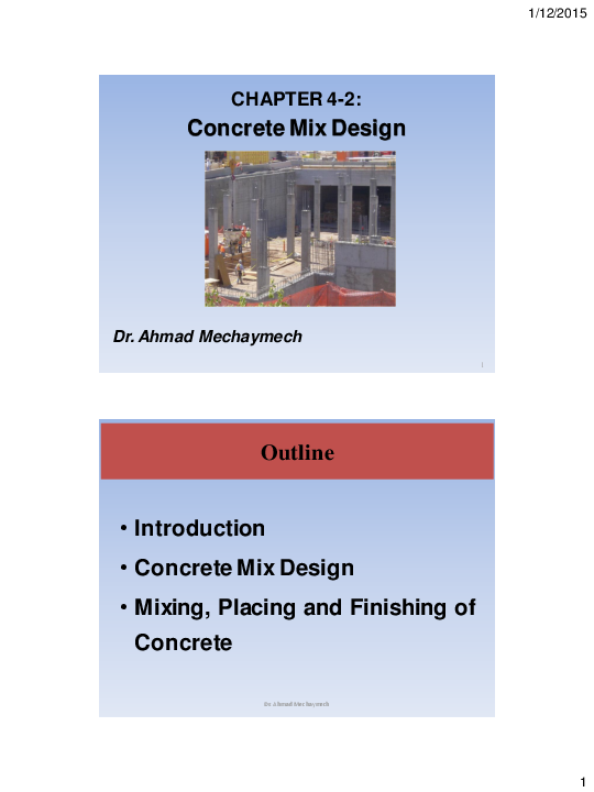 PDF) CHAPTER 4-2: Concrete Mix Design | Hassan Haidar