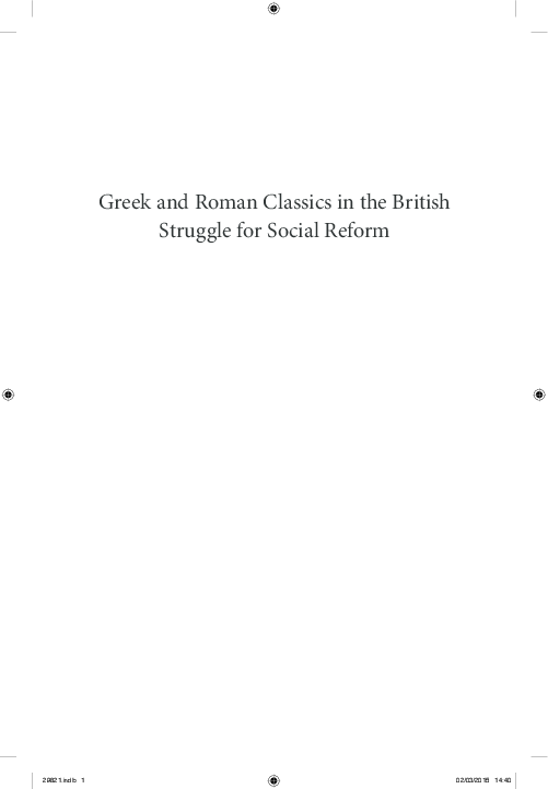 PDF) Greek and Roman Classics in the British Struggle for Social