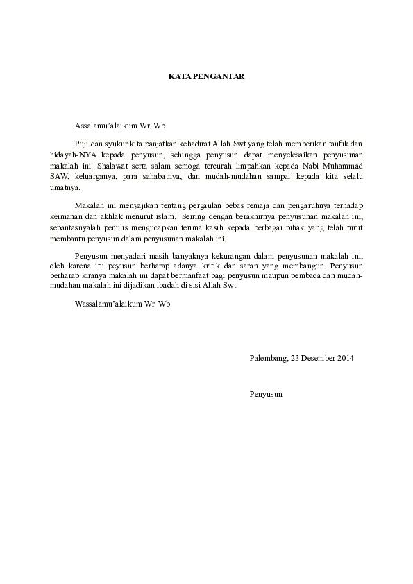 Doc Makalah Pergaulan Bebas Muhammad Ardiansyah Academia Edu