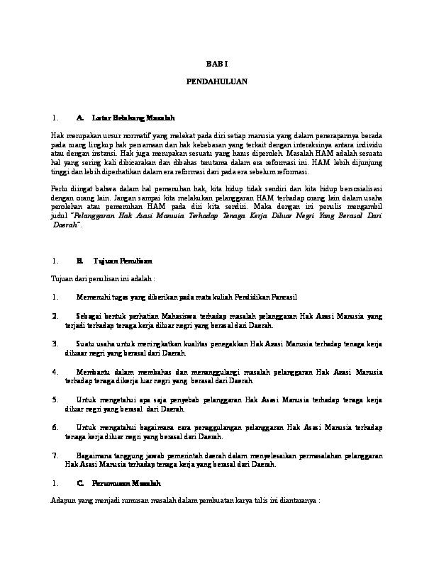 Doc Makalah Tentang Ham Yhumex Efendi Academia Edu