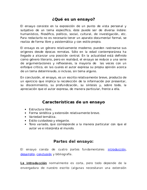 Doc Qué Es Un Ensayo Sigrid Escalona Liscano Academia Edu