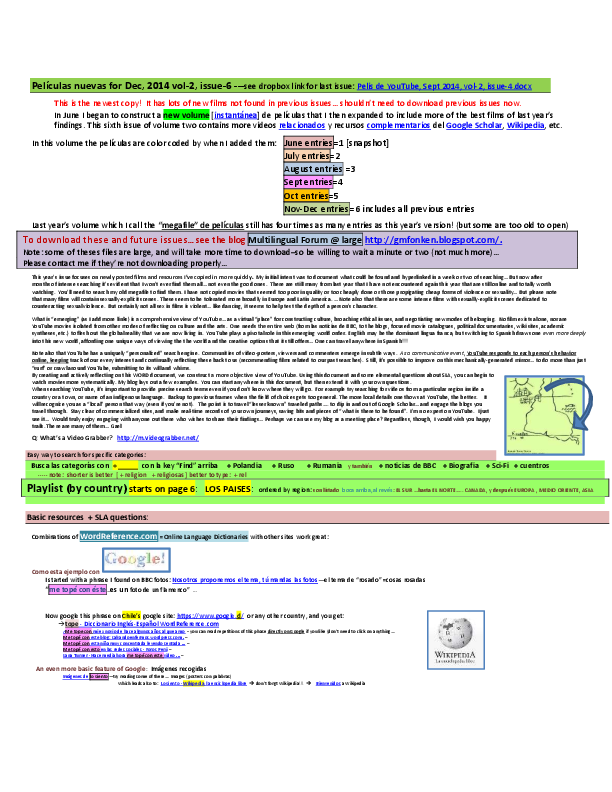 Pdf Pdf Copy Peliculas De Youtube Anotadas Dec 2014 Vol 2 Issue 6 Gael Fonken Academia Edu