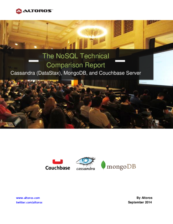 PDF) The NoSQL Technical Comparison Report | Yamil Montaña