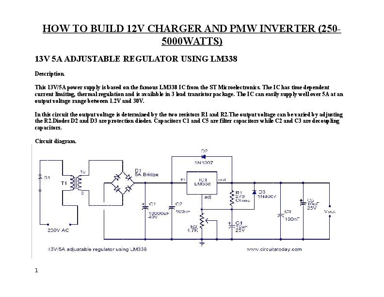 DOC) How to Build 5KVA Inverter PMW | Alabi Holladotun