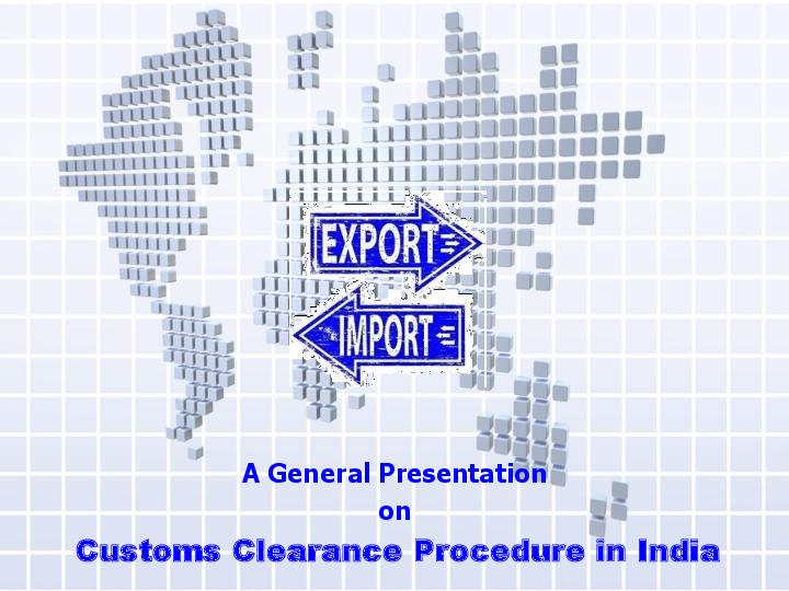 PDF) A General Presentation on Customs Clearance Procedure