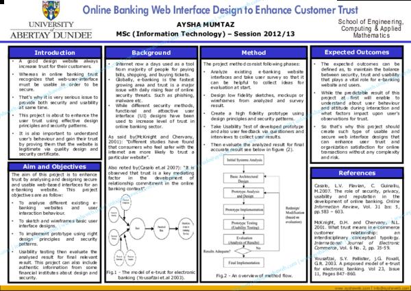 PDF) Online Banking Interface Design to Enhance Customer Trust
