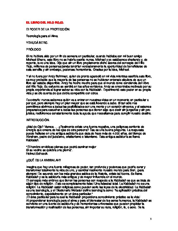 Pdf El Libro Del Hilo Rojo Lorena Yashan Academia Edu