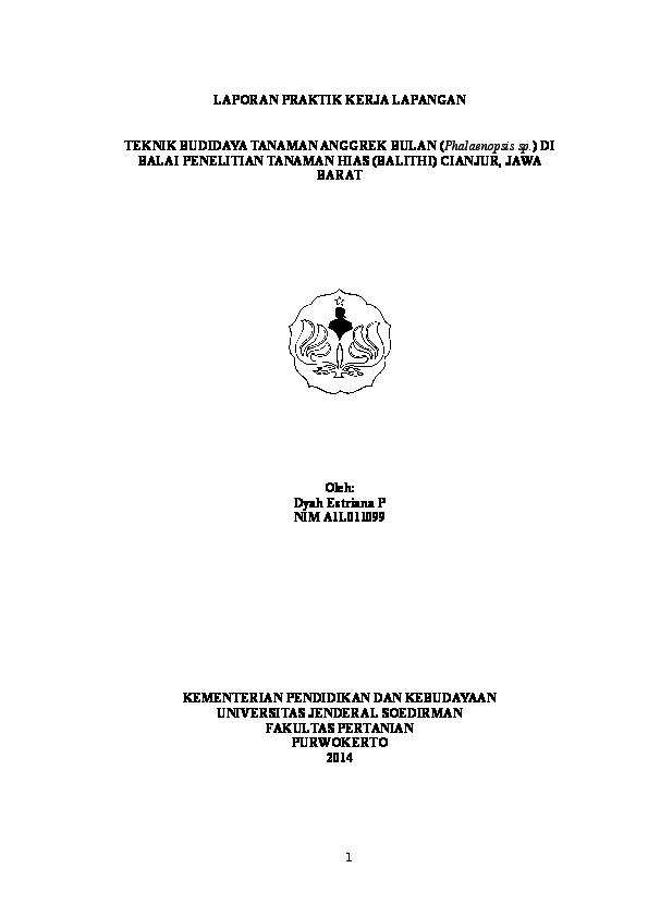 Doc Budidaya Anggrek Phalaenopsis Sp Di Balai Penelitian Tanaman Hias Cianjur Dyah E Pratiwi Academia Edu