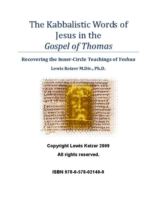 PDF) The Kabbalistic Words of Jesus in the Gospel of Thomas