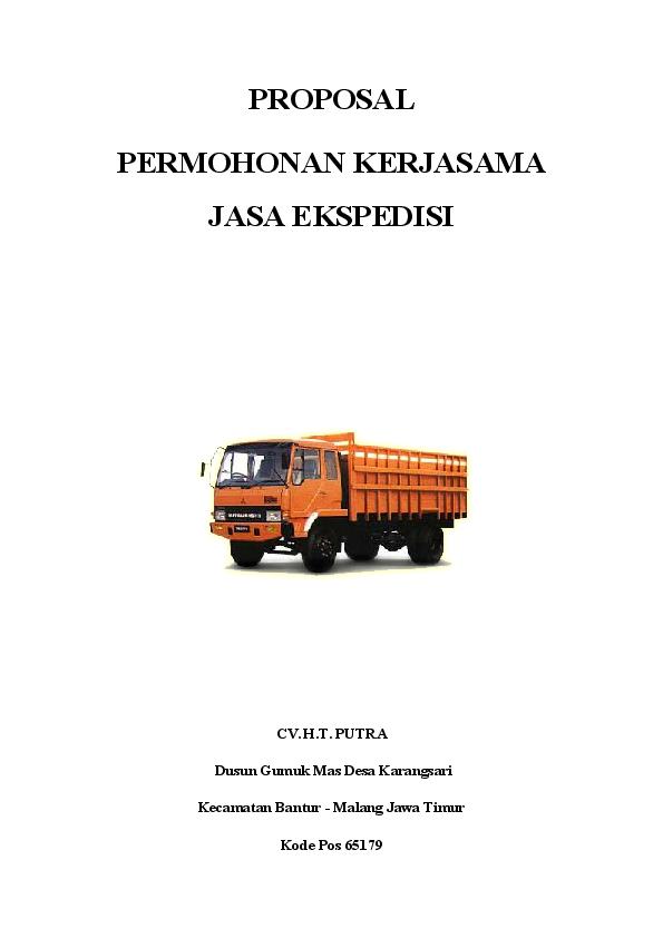 Doc Proposal Permohonan Kerjasama Jasa Ekspedisi Gupong