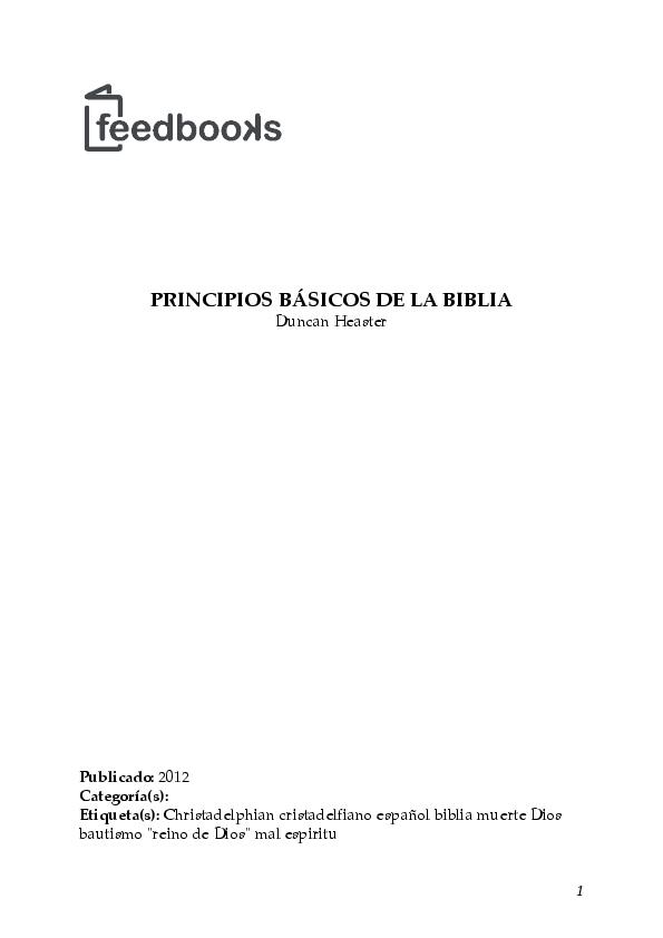 PDF) PRINCIPIOS BÁSICOS DE LA BIBLIA | Erick Morales