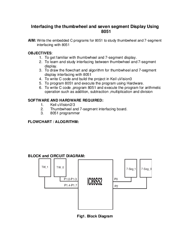 PDF) Thumb wheel interfacing with 8051 Microcontroller