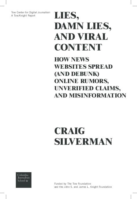 PDF) Lies, Damn Lies and Viral Content: How News Websites