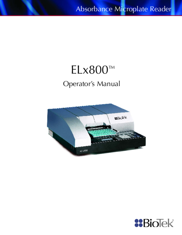 Absorbance microplate reader download elx800