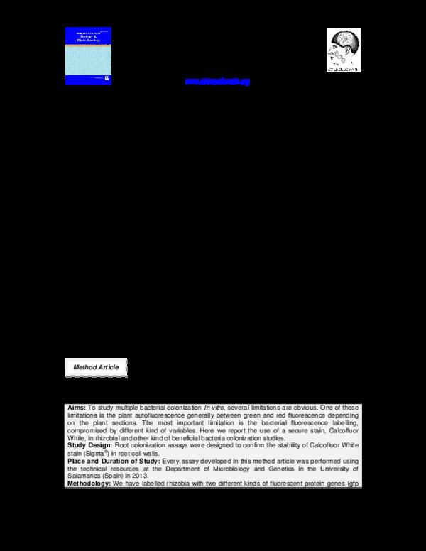 Calcofluor white, an Alternative to Propidium Iodide for