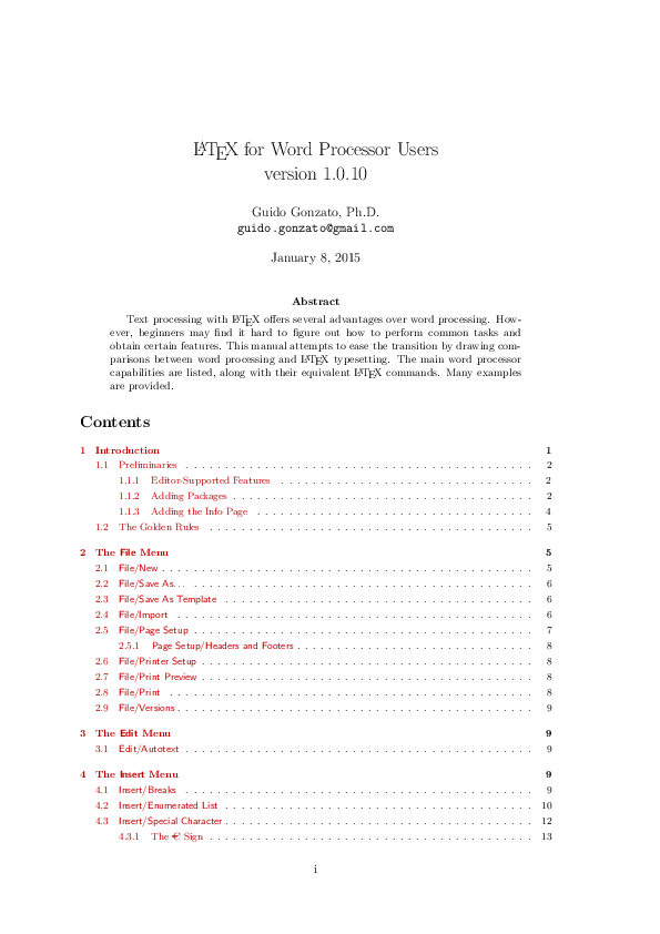 PDF) LaTeX4WP: A LaTeX guide specifically designed for word