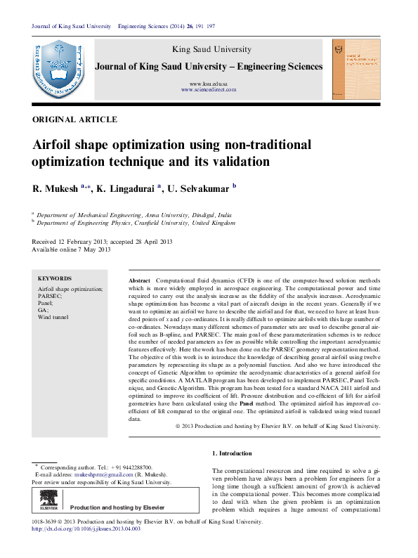 PDF) Airfoil Geometry Parameterization through Shape