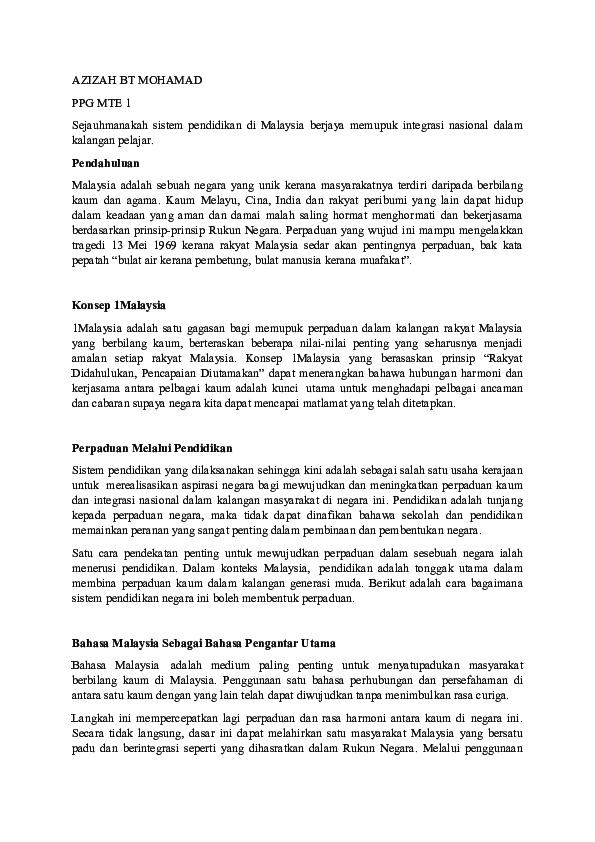Doc Integrasi Nasional Forum Azizah Mohamad Academia Edu