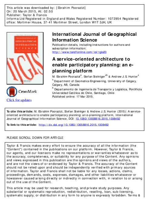 PDF) A service-oriented architecture to enable participatory
