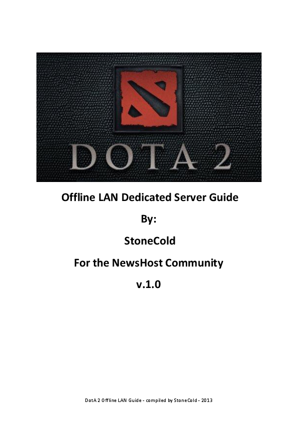 PDF) Dot A 2 Offline LAN Dedicated Server Guide | Aqiff