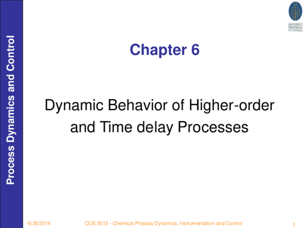 PDF) Dynamic Behavior of Higher-order and Time delay Processes
