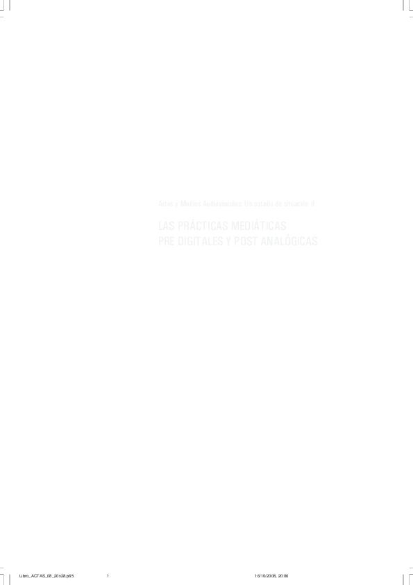 3584f1b4d2 PDF) Artes y Medios Audiovisuales: Un estado de situación II LAS ...