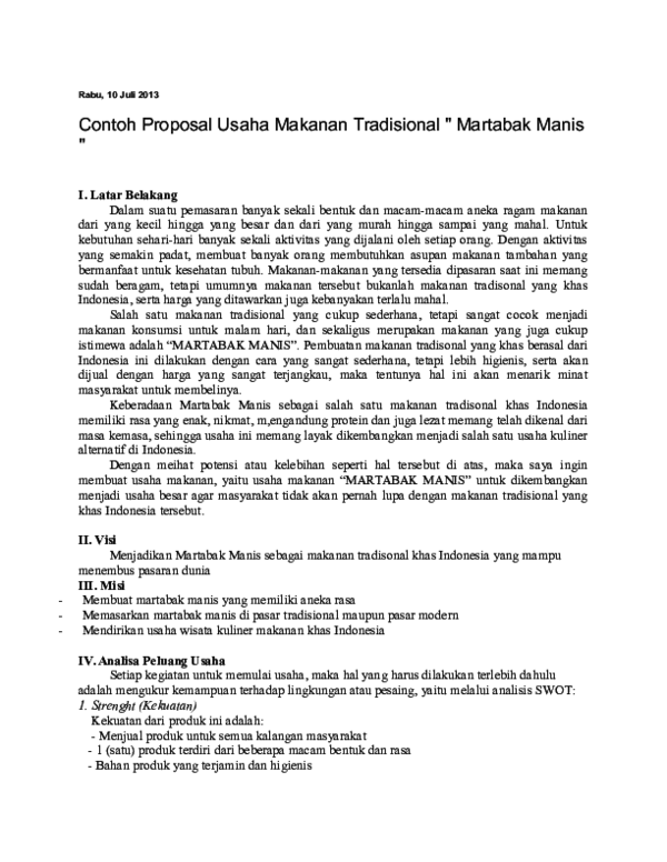 Doc Proposal Martabak Ibnu Rusydi Academia Edu