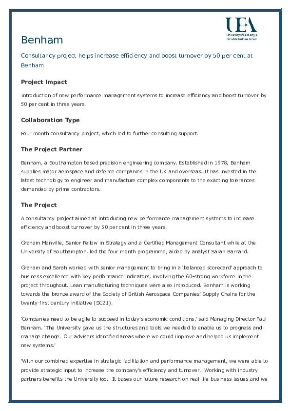 SME Performance Improvement Impact Case Study | Graham