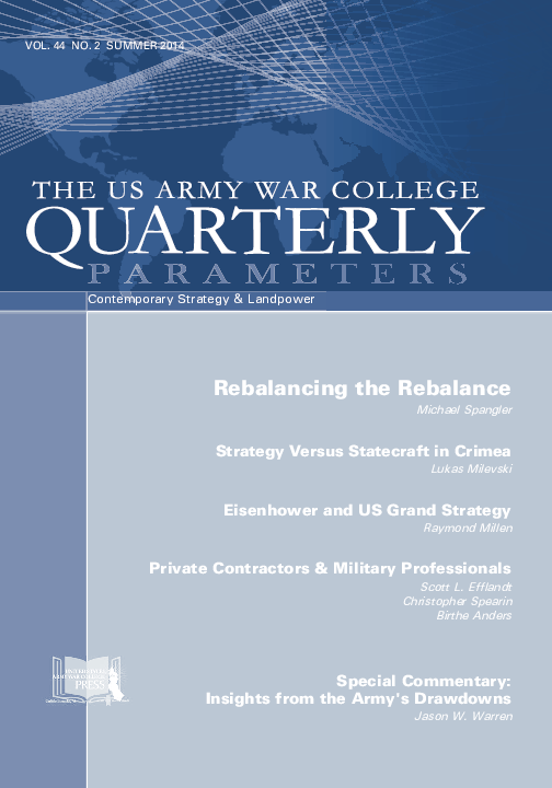 PDF) Insights from the Army's Drawdowns | Jason W Warren - Academia edu