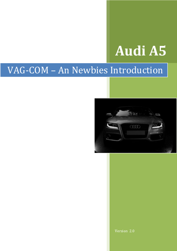 Audi A5 VAG-COM – An Newbies Introduction | Joao Frazao - Academia edu