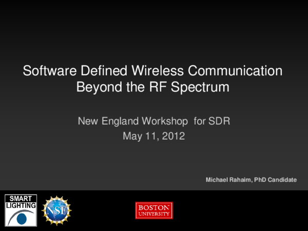 PDF) Software Defined Visible Light Communication | Michael