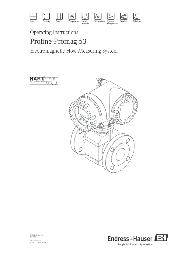 PDF) Proline Promag 53 Electromagnetic Flow Measuring System