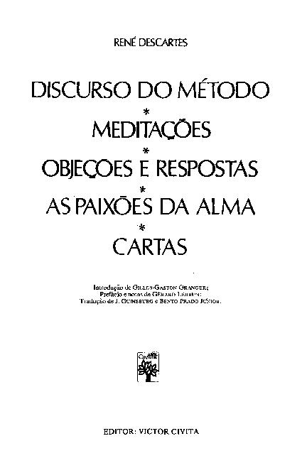 Discurso Do Metodo Descartes Pdf