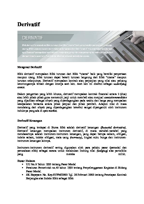Kontrak Antara Perusahaan Dengan Para Pemegang Obligasi ...