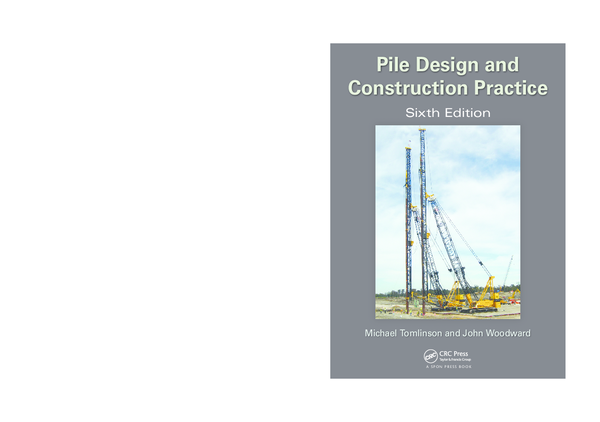 PDF) Pile Design and Construction Practice | Erlet Shaqe - Academia edu