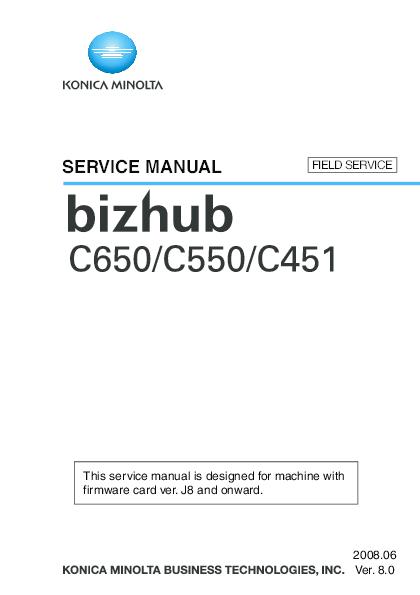 PDF) Bizhub C451 C550 C650Field Svc | Mario Castillo - Academia edu