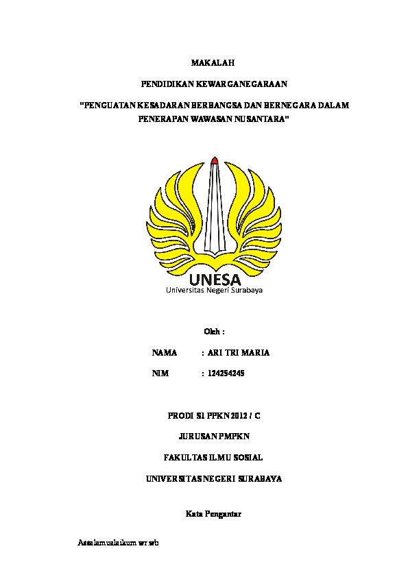 Doc Makalah Wawasan Nusantara Ghina Nur Fadhilah Academia Edu
