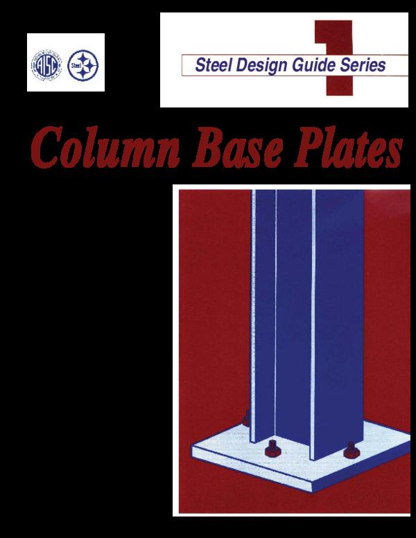 Pdf Steel Design Guide Series Column Base Plates Misael