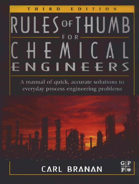 PDF) RULES OF THUMB FOR CHEMICAL ENGINEERS | MARIA ROMEU