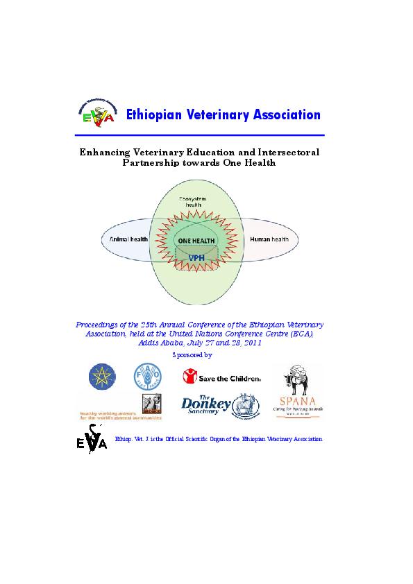 zoonoses epidemiology in Ethiopian Livestock   Fasil Mengistu and