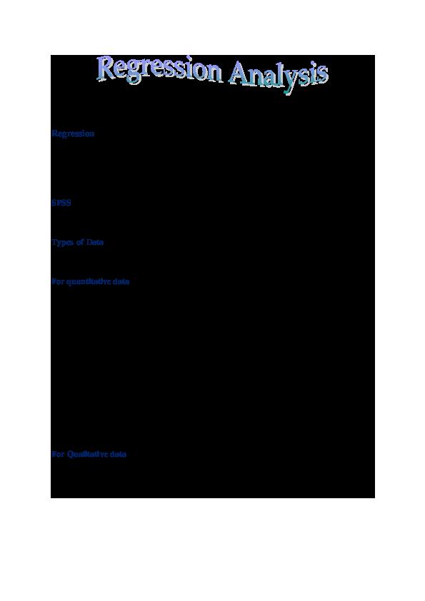 PDF) Conduct Regression through SPSS | Epimetheus JNU - Academia edu