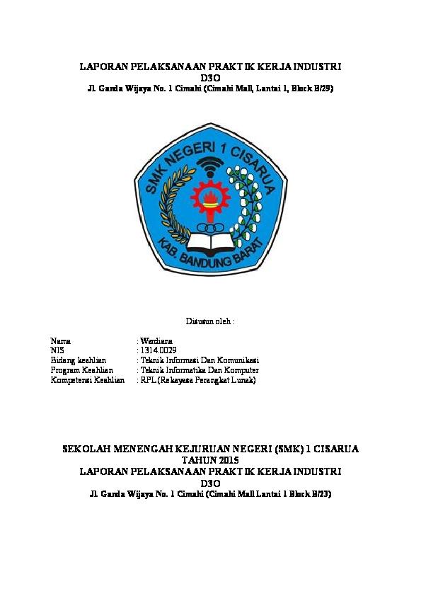 Doc Laporan Pkl Ditempat Service Hp Wardiana Wardi Academia Edu