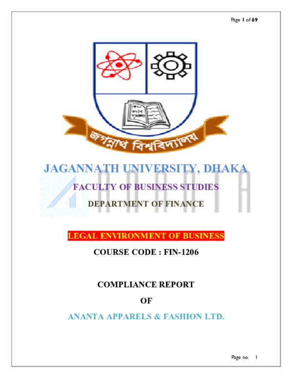 PDF) Legal Environment of Business-ANANTA GROUP OF INDUSTRY