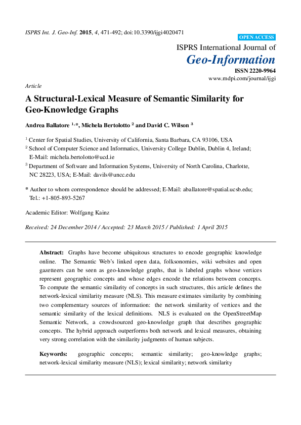 PDF) A Structural-Lexical Measure of Semantic Similarity for