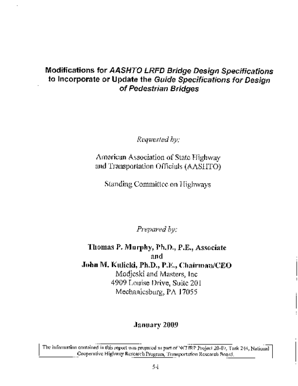PDF) Modifications for AASHTO LRFD Bridge Design