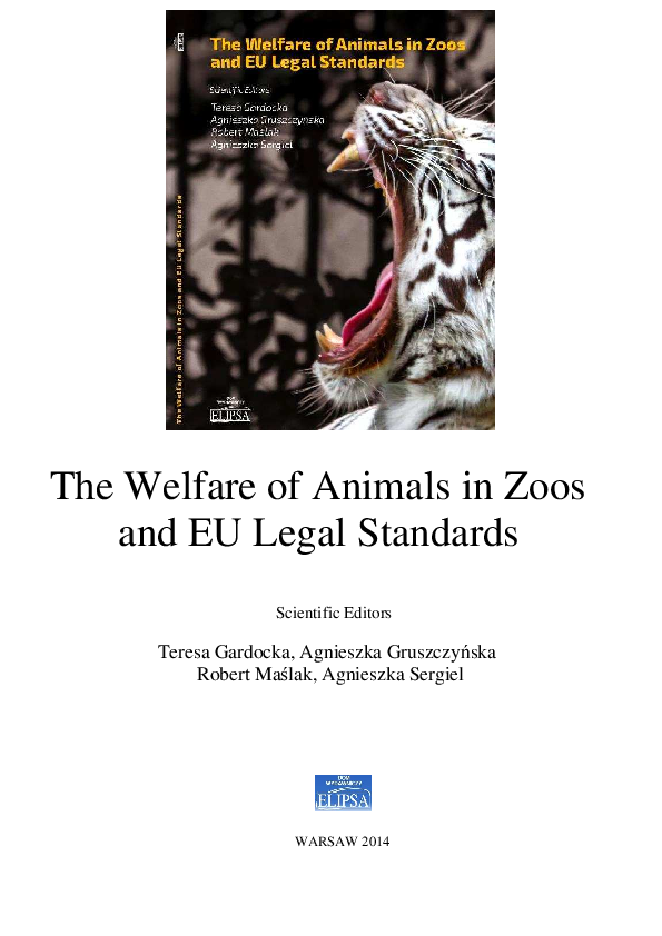 Pdf The Welfare Of Captive Bears In The Welfare Of Animals In